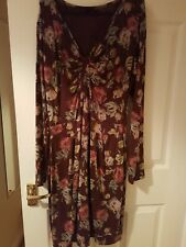 Amari Brown Floral Dress Size 12 uk or Amari size 2