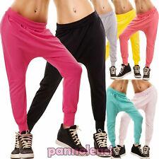 Pantaloni donna fitness jogging sarouel turca cavallo basso basic nuovi CC-1278