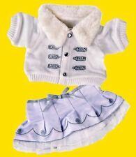 """Teddy ClotheS Silver/white Winter Outfit, fits 16"""" teddy mountain & Build a Bear"""
