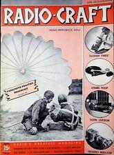 PARACHUTE PRACTICE BROADCAST, Radio - Craft Magazine, SEPT, 1941