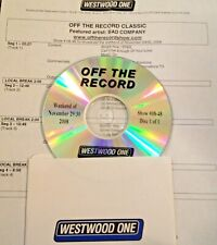 RADIO SHOW: OFF THE RECORD 11/29/08 BAD COMPANY w/16 INTERVIEWS & 10 HITS