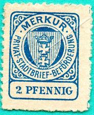 GERMANY MERKUR 2 PFENNIG PRIVAT STADTBRIEF BEFORDERUNG REVENUE STAMPS  MNH 286