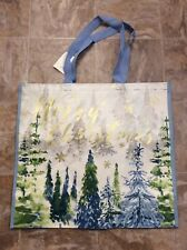 "NWT ""MERRY CHRISTMAS"" Large Shopping Bag Reusable Tote From HomeGoods"