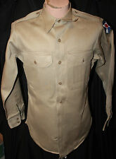 KOREAN WAR ERA US ARMY KHAKI LONG SLEEVE SHIRT W 21ST CORPS PATCH