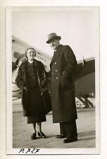 L'actrice Annabella & son mari Jean Murat, Wibault Air France - Rare Photo 1936