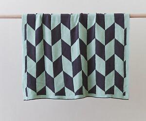 Billie Green Newborn Baby Blanket Cotton Knit  Cot Pram Infant Blanket Wrap