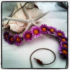 New! Hand Made Violet Daisy Headband Violet Vision Floral Daisy Crown Tiara OSFA