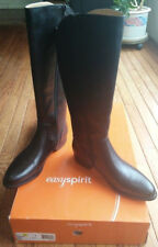 Easy Spirit Reynee Riding Boots 9.5 M Black LEATHER-hugs calf, no slouchy ankles