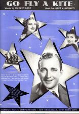 "THE STAR MAKER Sheet Music ""Go Fly A Kite"" Bing Crosby Linda Ware"