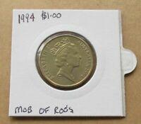 AUSTRALIA DECIMAL...1994 MOB OF ROOS  ( KANGAROOS )..$1.00 DOLLAR COIN...