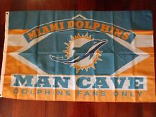 Miami Dolphins Man Cave 3x5 Flag. US seller. Free shipping within the US