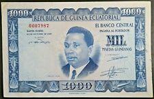 Equatorial Guinea 1969 1000 Pesetas Guineanas Pick 3