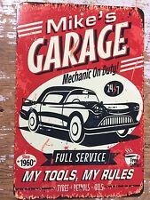 Metal Personalized Signs, Man Cave Garage Bar Shop Pool, Trophy Room,