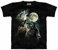 Wolf Pack Hunt Black Moon Wolves Night Dog Dark Epic T-Shirt Mountain S-3X