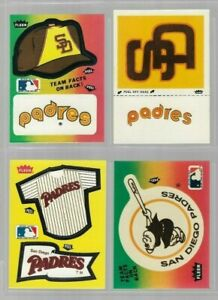 Vintage 80's SAN DIEGO PADRES Sticker Lot of 4 Tony Gwynn