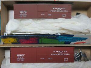 K&D SALE* MARYLAND & PA 36' Wood Side Box Car KITS (2 car set / 2 car #) NIB