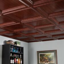 Fasade - Classic Coffer 2ft x 2ft Cherry Lay In Ceiling Tile (L84-32)
