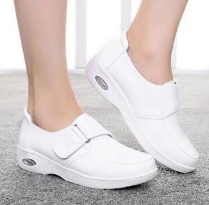 Women's Fashion Casual Flats Athletic Sports Nursing Leisure Hospital Shoe White