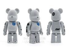 Medicom Toy Bearbrick 100% LOOPWHEELER FLOCKED Be@rbrick 100% Loopwheeler MIB