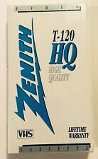 Zenith T-120 HQ High Quality Sealed Blank Video Tape VHS Brand New Mint