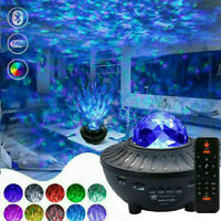 USB Galaxy Star Night Lamp LED Starry Sky Projector Light Ocean Wave +Remote UK