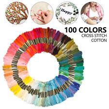 100x color bordado hilo punto de cruz tejido artesanal costura  artesanal