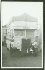 Open Top Bus Under Canvas! - TV 4956 - Postcard Size Photograph