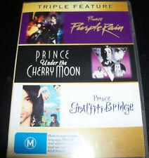 Prince Under The Cherry Moon / Purple Rain /Graffiti Bridge (R 4 Aust) 3 DVD NEW