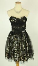 Masquerade black $100 Evening Prom Formal Animal Cocktail Dress size 9 Short