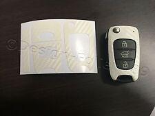 Carbonio Bianco Pellicola Chiave Hyundai ad es. i10 i20 i30 ix35 ix20 Elantra