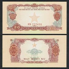 1963 VIETNAM 20 XU NN 222498 P-R2 UNC *W/YELLOW SPOT*