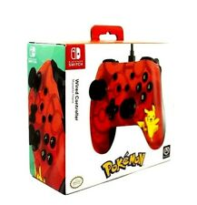Pokemon Pikachu Nintendo Switch Red Wired Controller New