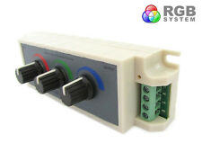 A2ZWORLD CENTRALINA RGB LED DIMMER PWM CONTROLLER MODULO MANUALE CON MANOPOLE 12
