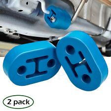 2 X 2 Hole 11.5MM Universal Car Polyurethane Rubber Exhaust Muffler Hanger Blue