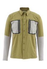 Simms Taimen Tricomp Long Sleeve Shirt Army Green- Size 2XL -CLOSEOUT