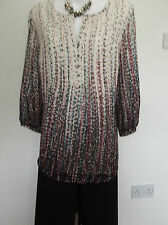 NEW with TAG  Delightful M&S Cream/Multi Tunic Top  14  -  Possibly 16?