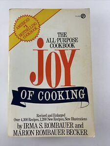The Joy of Cooking Cookbook Irma Rombauer 1973 Paperback Vintage Recipe