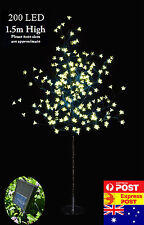 2x 200 LED 1.5M Warm White Cherry Blossom Solar Christmas Outdoor Tree(2 Trees)