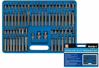 Bluespot 75pc Hex Star Ribe Spline & Tamperproof Torx Key Bit Socket Set 1/2 3/8