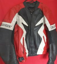 Joe Rocket Honda Sponsor Leather Jacket Size 48 - Red, White and Black