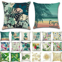 Tropical Cushion Covers Throw Waist Pillow Cases Pillowcase Sofa Car Home Decor