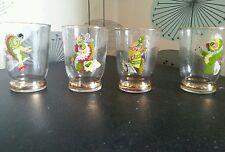Set Of 4 Vintage Retro Shot Glasses