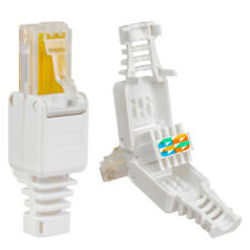 20 x Netzwerk LAN RJ45 stecker Crimpstecker Cat6 7 5 Kabel Connector Werkzeuglos