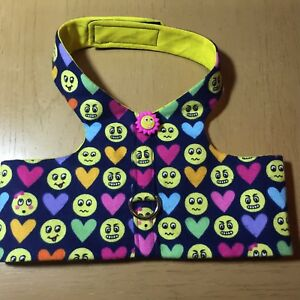 Emoji Handmade Dog Harness Vest XL (1284)