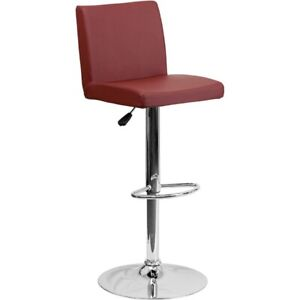 Flash Furniture Burgundy Contemporary Barstool, Burgundy - CH-92066-BURG-GG