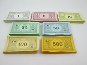29,580 Dollars in Monopoly Paper Money 500s 100s 50s 20s 10s 5s 1s - Preowned