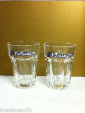 Hoegaarden beer glass glasses set of two .25L import Belgium glassware bar MO5