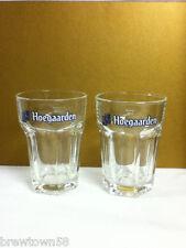 Hoegaarden beer glass glasses set of two .25L import Belgium glassware bar MO5