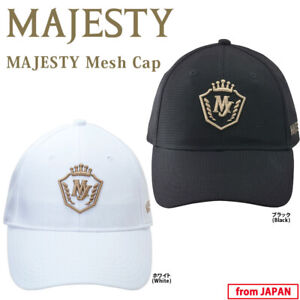 2020 Maruman Golf Japan MAJESTY Mesh Cap for Men's White or Black One-size 20at