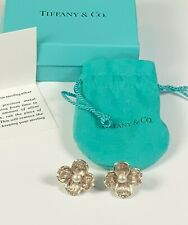 Tiffany & Co Vintage Dogwood Silver & Natural Pearl Flower Earrings